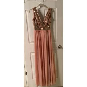 Lulu's Sequenced Blush dress